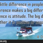 There is little difference in people but that little difference makes a big