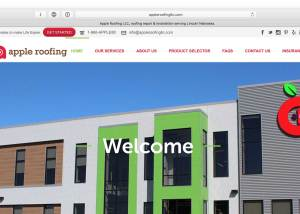 Apple Roofing Web Design 2
