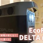 EcoFlow DELTA mini 実機レビュー | 女性が片手で持てるコンパクトさで家電が使える!