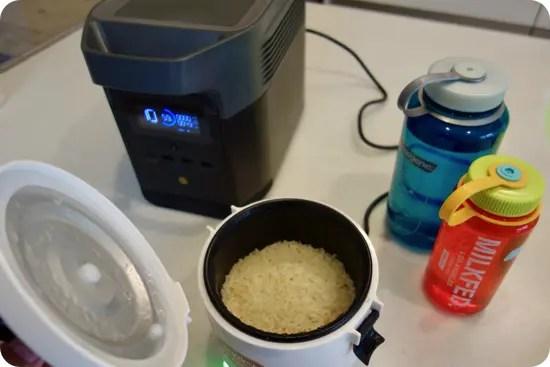 EcoFlow DELTA miniで車載炊飯器タケルくんを使う