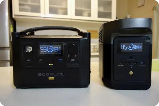 EcoFlow DELTA miniとRIVER Proの比較