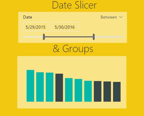 Date Slicer & Grouping