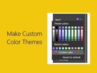 Custom Color Theme in Power BI