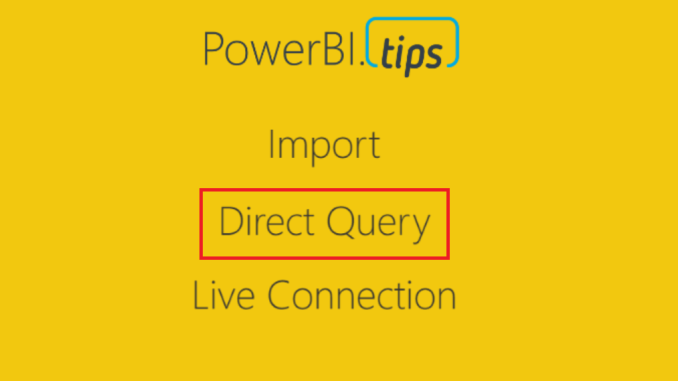 Connection Direct Query