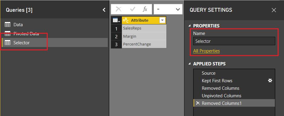 Create Selector Table