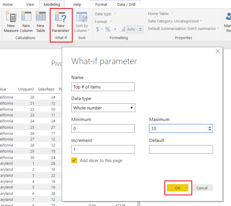 What If Parameter