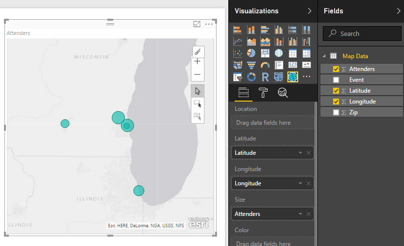 Fields for ArcGIS Map