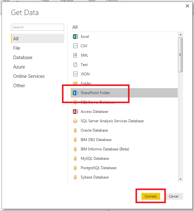 SharePoint Folder Connection