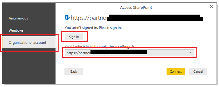 User Sign In Page
