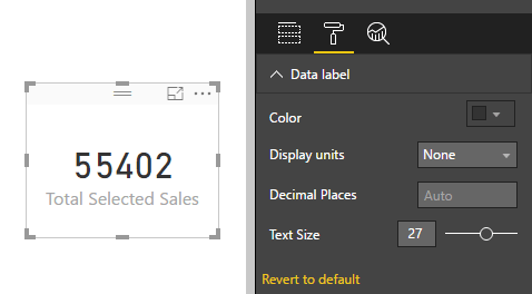 Remove Number Formatting from Card