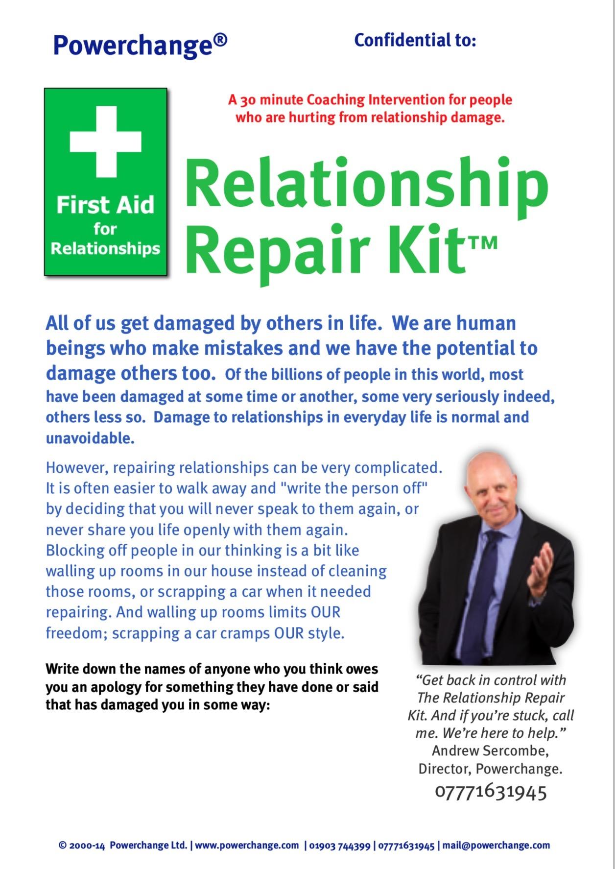 Relationship Repair Kit Worksheet