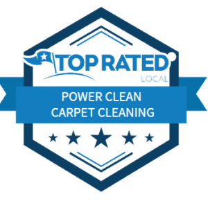 Top Rated Power Clean Carpet Cleaning Albuquerque Badge