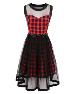 Floral Skater Dress Halter Backless Summer Dress Women's Sleeveless Short A Line Flare Dress