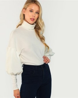 Autumn Minimalist Women Pullover Sweatshirts