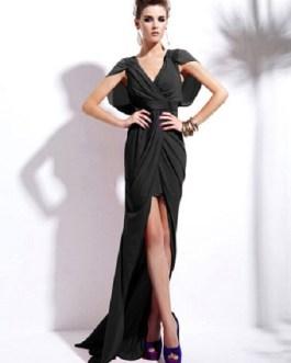 Split Front Floor-Length Dress High-Low Party Dress