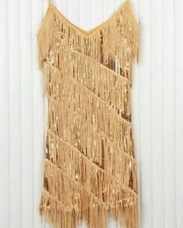 Sequin Party Dress 1920s Flapper Glitter Fringe Night Dress Sexy Club Dress