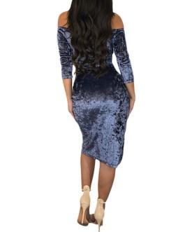 Velour Party Dress