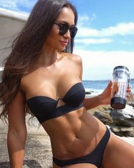 Black Bandeau Bikini Women Sexy Strapless Low Waist Swimsuit