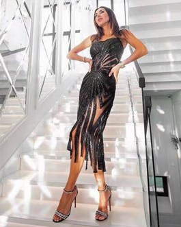 Women Celebrity Evening Party Vestidos Midi Club Dresses