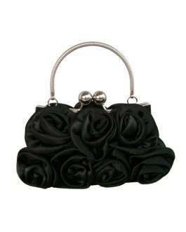 Bridal Wedding Handbag Flowers Satin Handbag