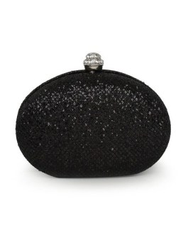 Formal Euro-Style Metallic Woman's Evening Bag With Sequins