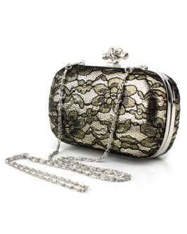 Gothic Metallic Lace Woman's Evening Bag