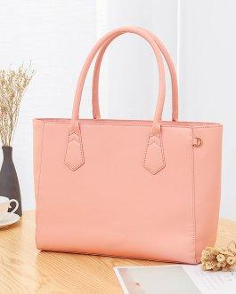 Women Casual Shopping Multifunction Handbag Solid Shoulder Bag