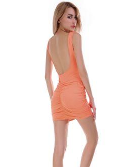 Solid Color Fashion Tank Top Pattern Women Sexy Mini Dress