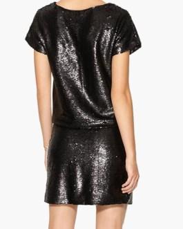 Women's Sequin Short Sleeve Glitter T Shirt