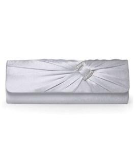 Concise Horizontal Shape Rhinestone Jacquard Satin Women's Clutch Bag