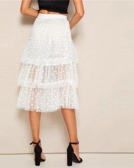 Women Streetwear Out Going Mid Waist Long Skirts