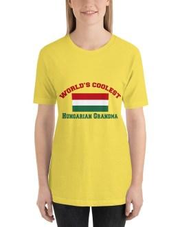 Coolest Hungarian Grandma Short Sleeve t-shirt