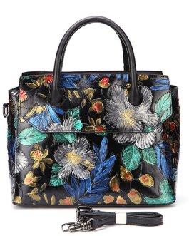 Genuine Leather Hand-painted Vintage Handbag Shoulder Bag