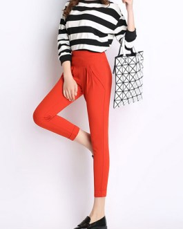 Green Pants Skinny Synthetic Pants for Women