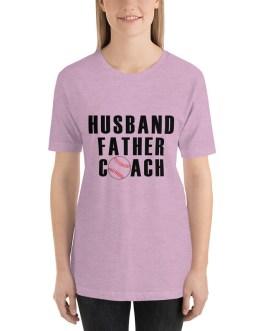 Husband father coach-baseball short sleeve t-shirt