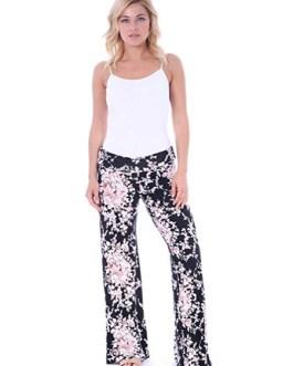 Wide Leg Pants Printed Elastic Waist Pyjama Lounge Pants