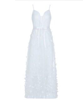 Women Bandage Lace Sleeveless Spaghetti Strap Party Dress