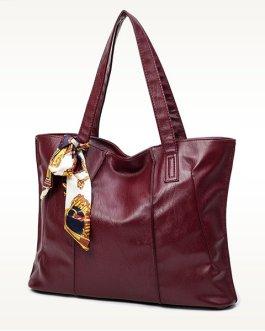 Women Stylish Elegant PU Leather Shoulder Bags Handbag