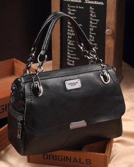 Women Vintage Oil-wax PU Leather Handbag Shoulder Bags Crossbody Bags