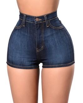 Women's High Waisted Denim Jean Shorts