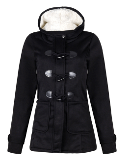 Hooded Plus Size Duffle Coat