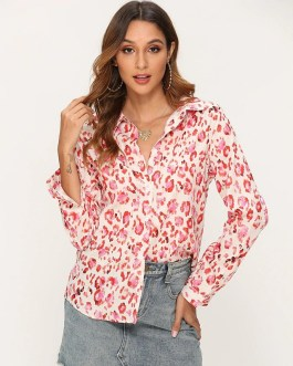 Turn Down Collar Plus Size Office Shirt Top