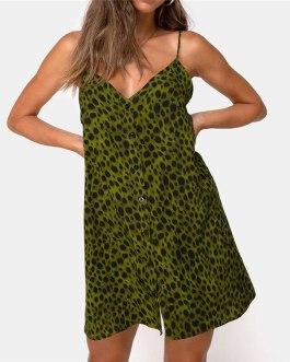 V-Neck Spaghetti Strap Sexy Dress