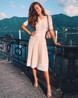 Short Sleeve Vestidos Elegant Evening Party Dress