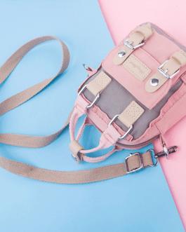 Colorblock Nylon Crossbody Bag