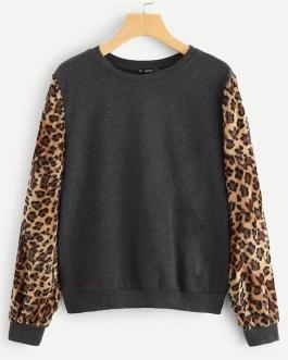 Modern Lady Highstreet Round Neck Sweatshirts