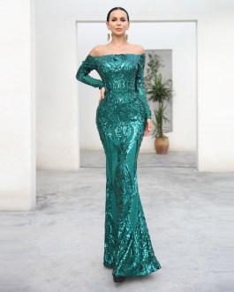 Sexy bra Long sleeve retro Maxi Dress