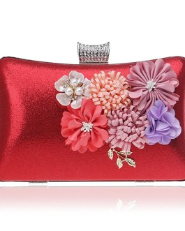 Beaded Leaf Flower Party Clutches