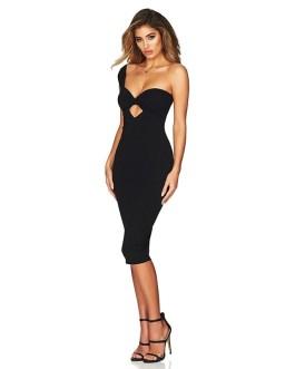 Elegant Asymmetric Bodycon Party Dress