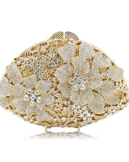 Evening Party Female Crystal Clutch